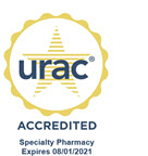 URAC accredited specialty pharmacy logo